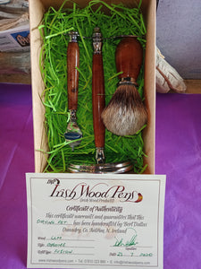 Irish Wood Shaving Kit