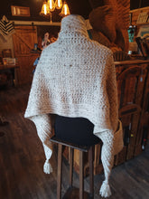 Load image into Gallery viewer, Hand Crochet pocket Shawl