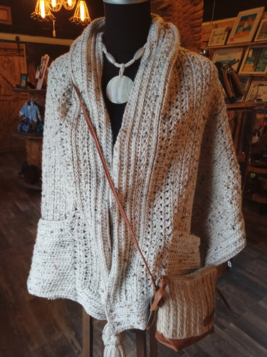 Hand Crochet pocket Shawl