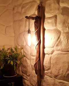 Long Wall Mounted Driftwood Light