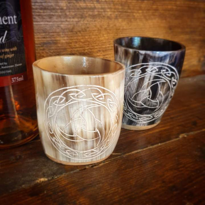 Engraved Horn Shot Glasses