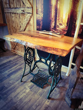 Load image into Gallery viewer, Singer Sewing Machine Table With Live Edge Top