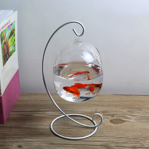 Behokic Clear 12cm Height Hanging Glass Aquarium Fish Bowl