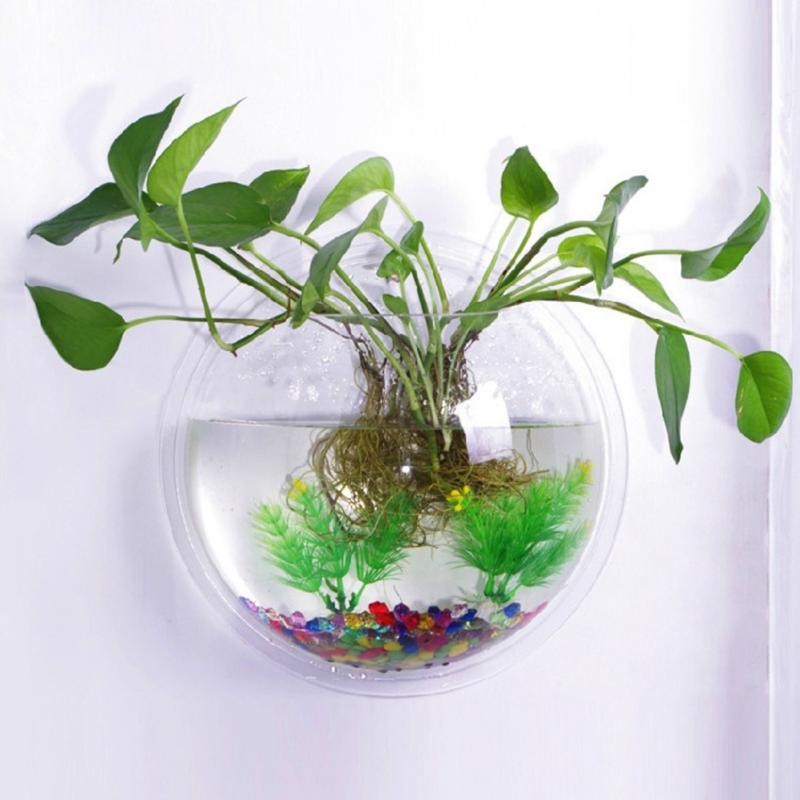 Home Decoration Pot Plant Wall Mounted Fish Bowl