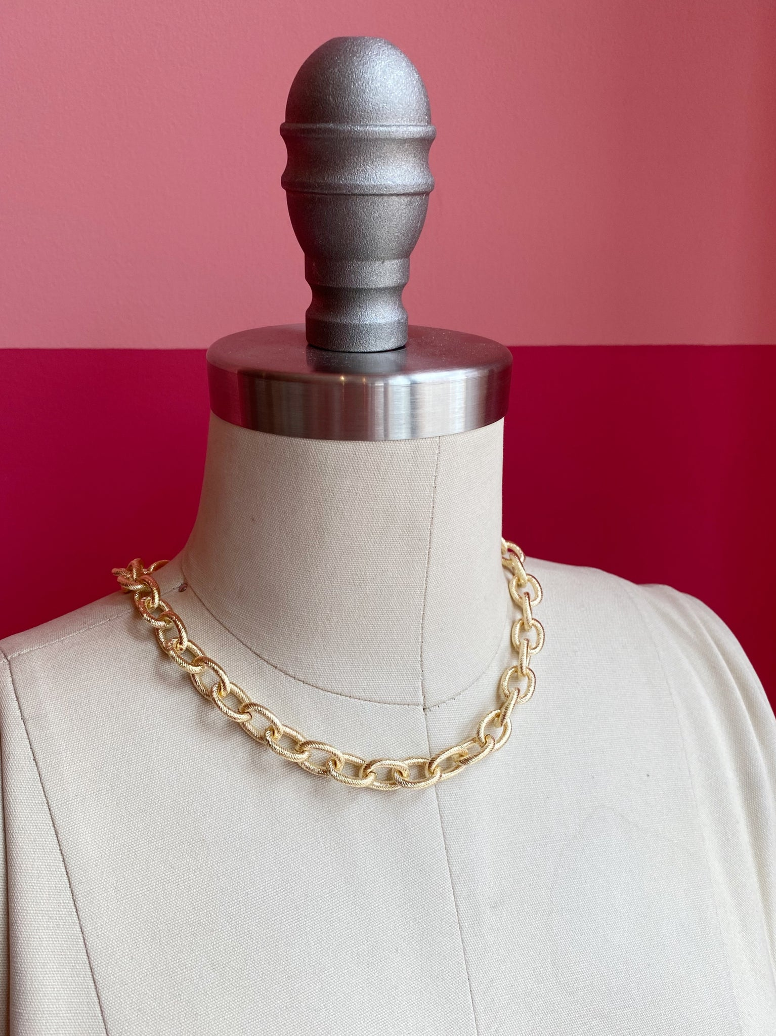 Nautical Gold Plated Chain Necklace