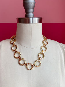 Gold Plated Link Chain Necklace