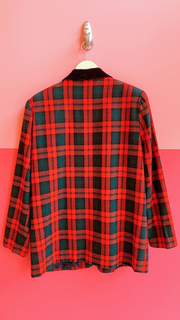 80s Red Boss Blazer, sz. L/XL