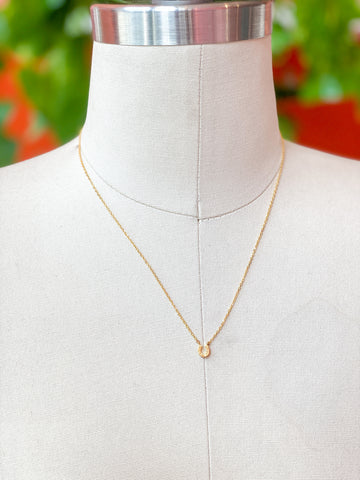 Delicate Gold Horseshoe Necklace