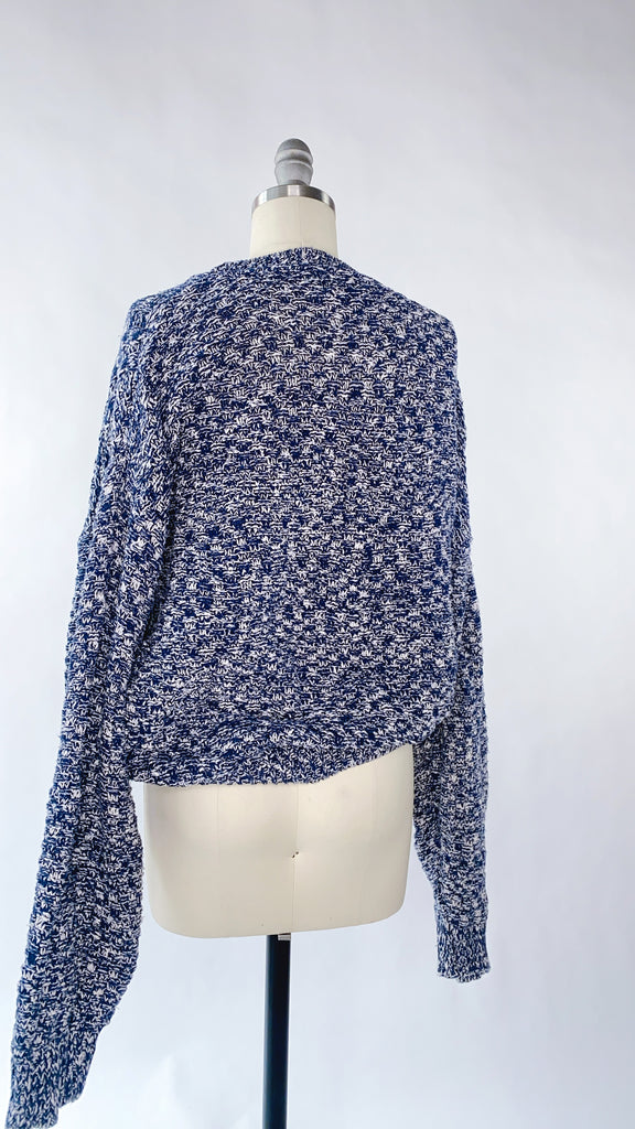 Blue and White speckled Sweater Size: S