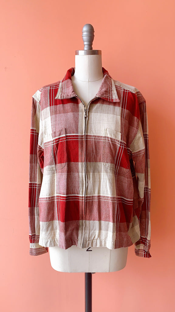 Walk with Me plaid jacket, sz. S