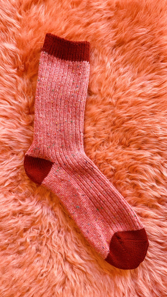 Speckled Wool Socks