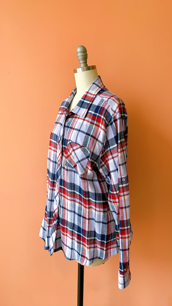 1990s Lunch Break flannel top, size:  M/L