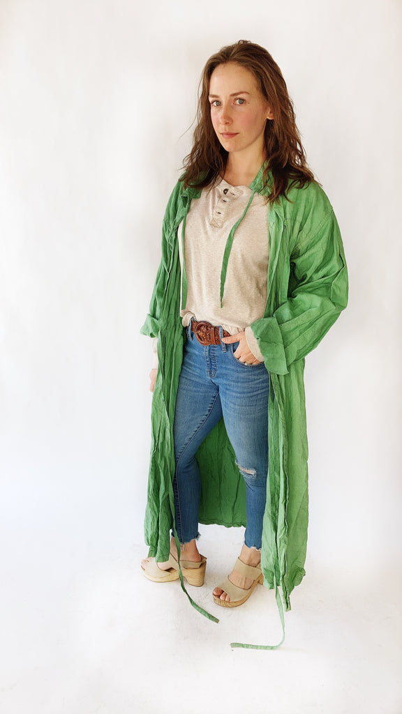 1967 Surgical Green Duster, sz. M/L