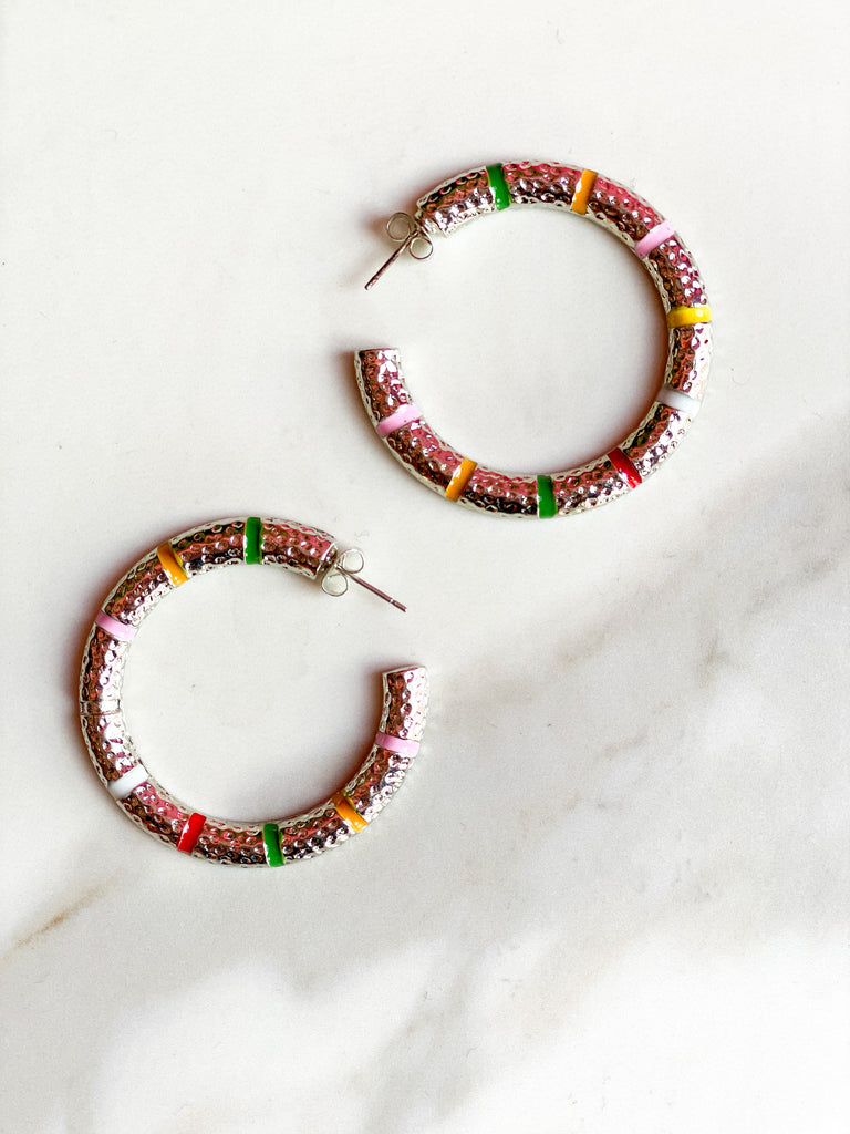 Candy Striped Hoops