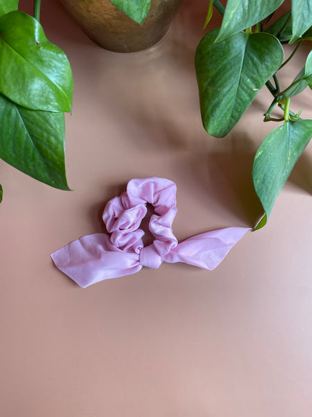 Satin Bridget Bow Scrunchie
