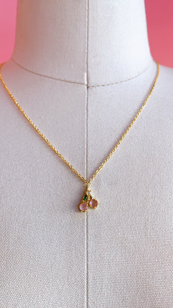 Delicate Cherry chain necklace