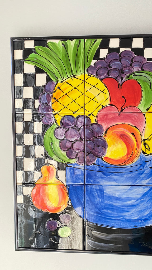 Hand painted Fruit Tile Art