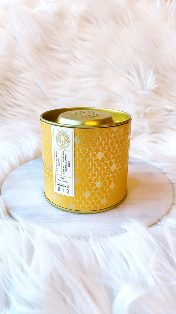 No. 12 Gold Tin w/ Embossed Lid (Yellow) 7 oz