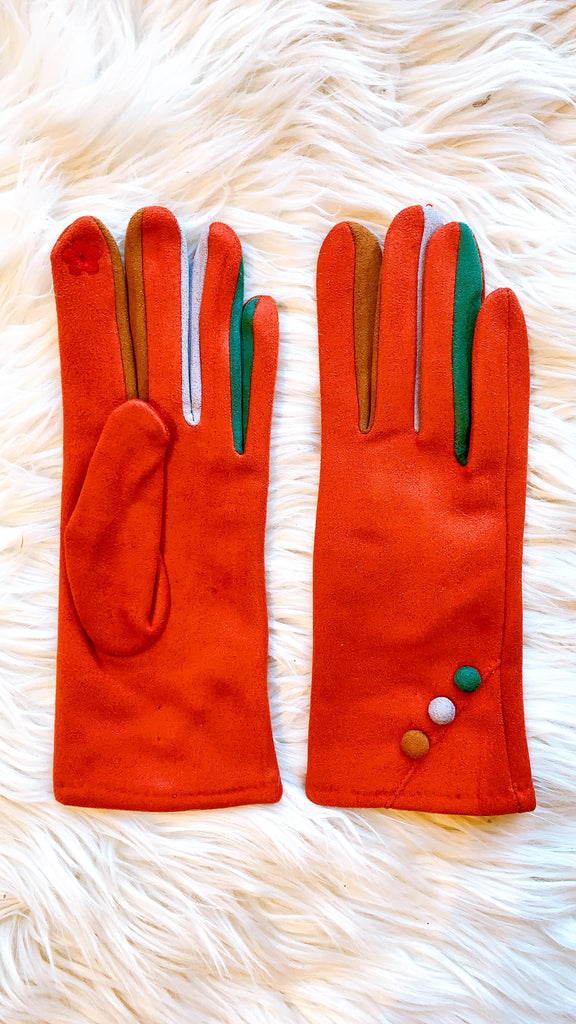 Multi Color Smart Gloves with Buttons