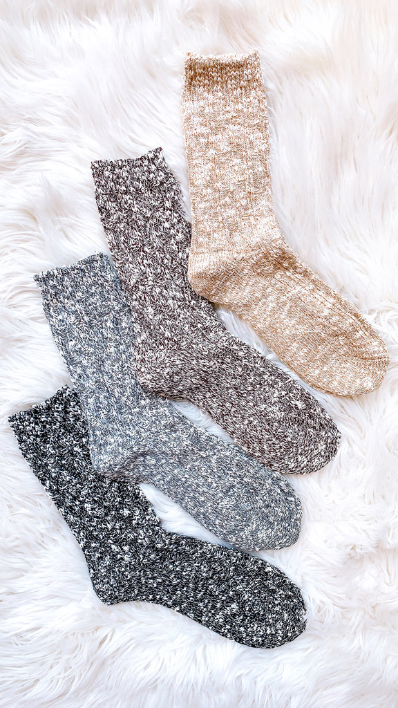 Snow Day Cotton Blend Socks