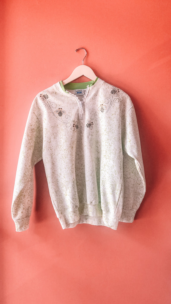 1990s Bee-dazzled sweatshirt, sz. M/L