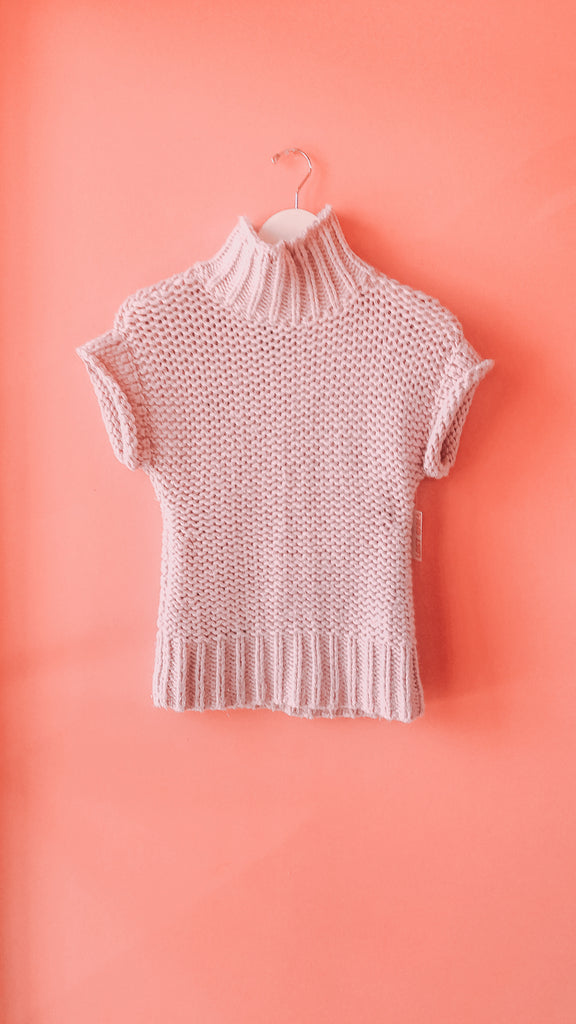 Y2K Lavender knit mock-neck top, sz. M