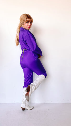 1980s Maroon Snap Up Sweater, sz. M/L