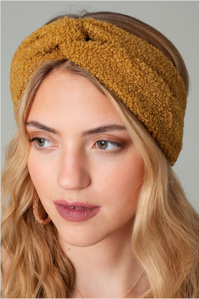 Elastic Teddy head wrap