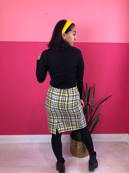 1990s Sunshine Tweed Skirt