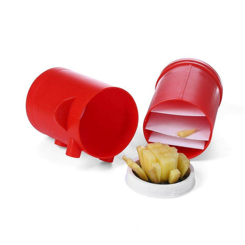 Image of Just Pack, Push, and Pop! The 2-in-1 Potato Fries Maker
