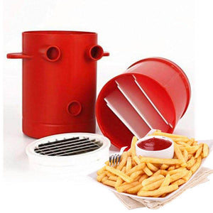 Just Pack, Push, and Pop! The 2-in-1 Potato Fries Maker