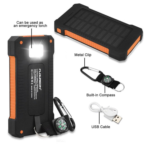 Solar Powerbank: Waterproof & Dustproof 20000mah