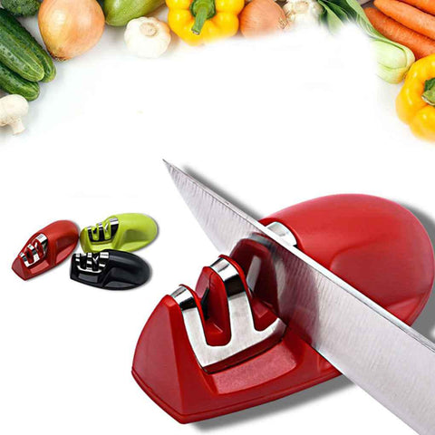 Image of Two Stage Diamond+Ceramic Knife Sharpener with rubber base