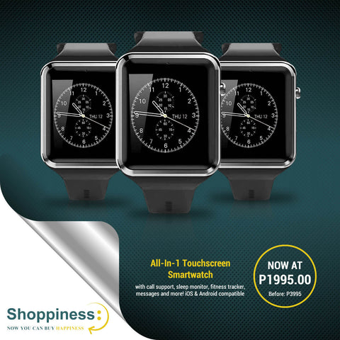 All-In-1 Touchscreen Smartwatch with call support, sleep monitor, fitness tracker, messages and more! iOS & Android compatible