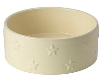 Star Ceramic Dog Bowl