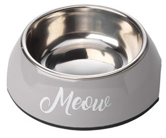 Grey Meow Cat Bowl