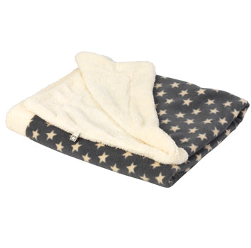 NEW Grey Fleece Star Blanket