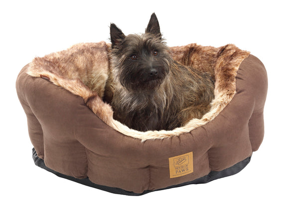 Arctic Fox Snuggle Oval Dog Bed