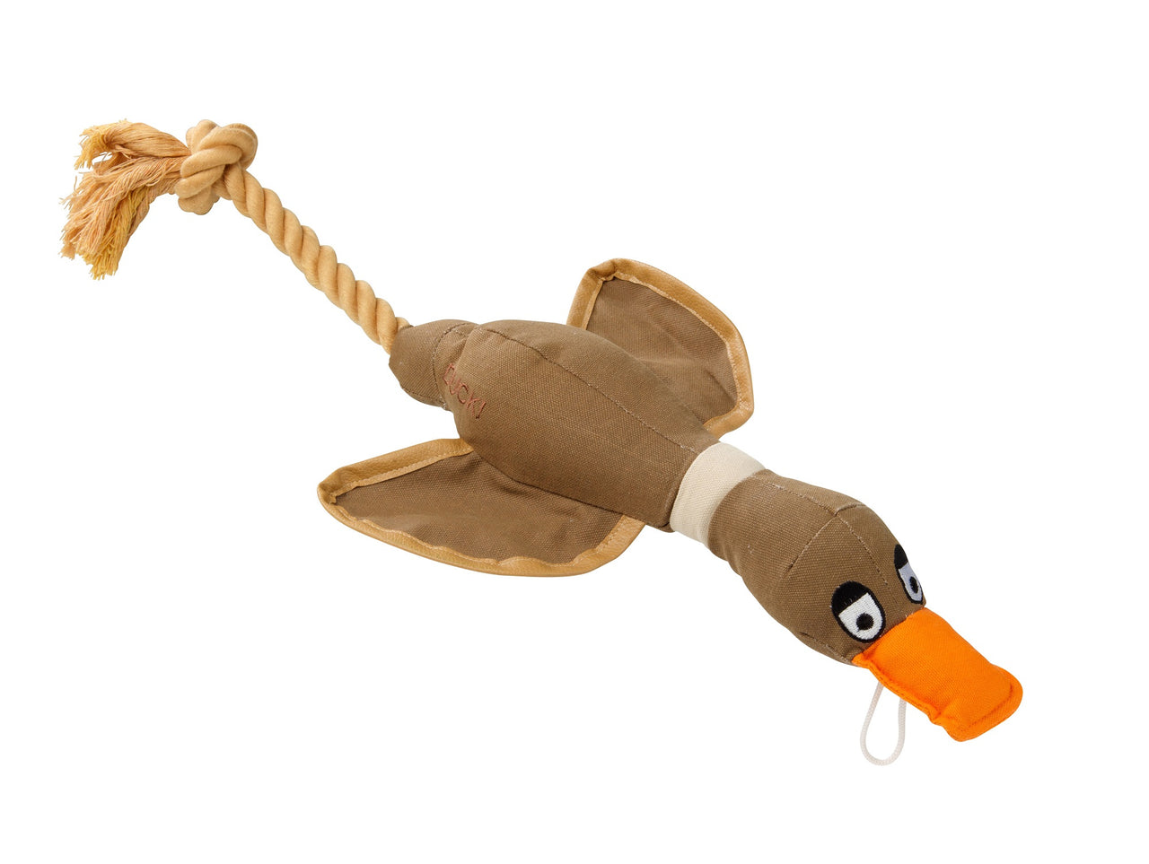 Duck!  Canvas Thrower Dog Toy Coco