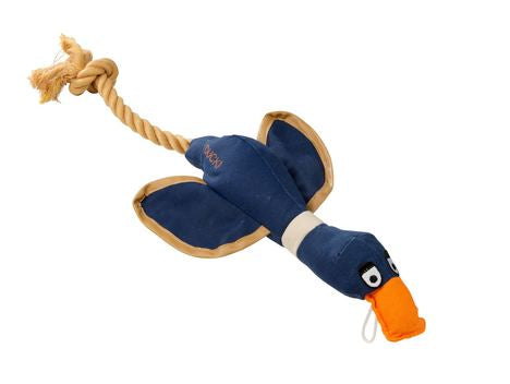 Duck!  Canvas Thrower Dog Toy Navy