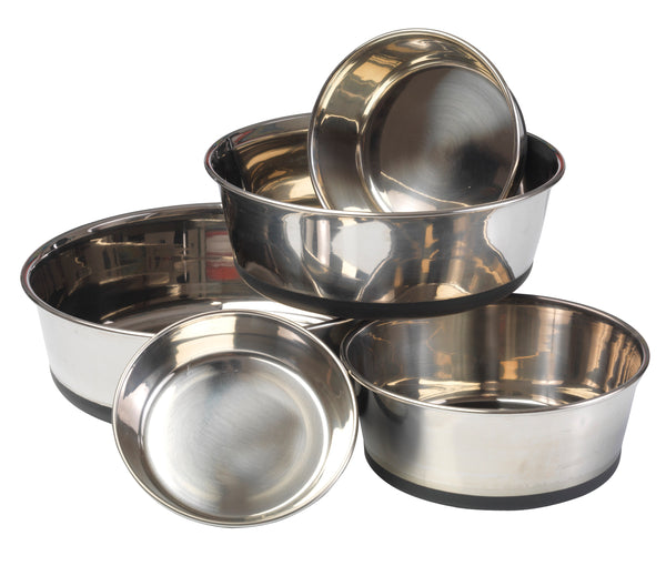 Stainless Steel Dog Bowl With Silicon Base