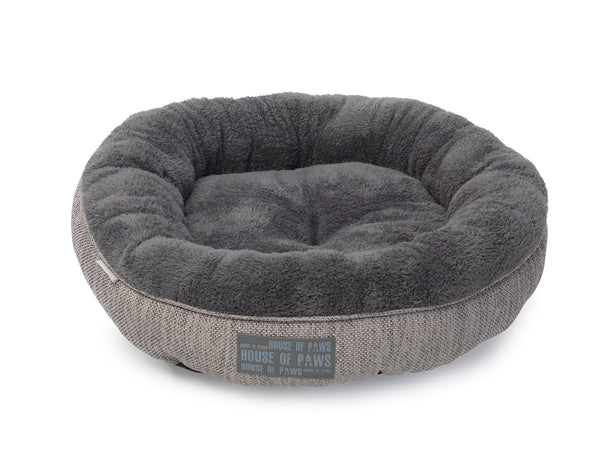 Grey Hessian Cat Bed
