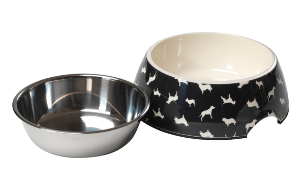 Silhouette Print Dog Bowl