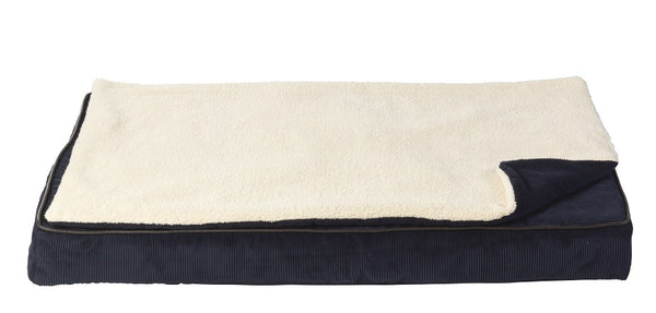 Memory foam mat with topper Navy