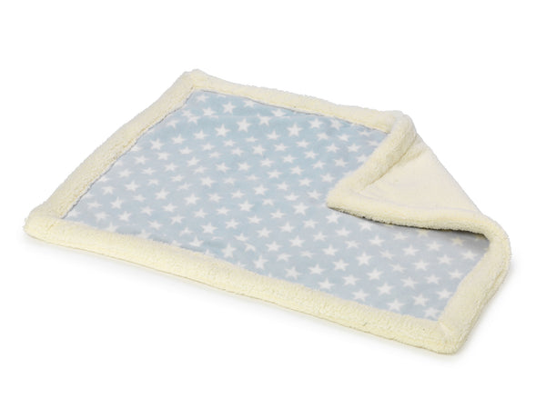Fleece Star Blanket Blue