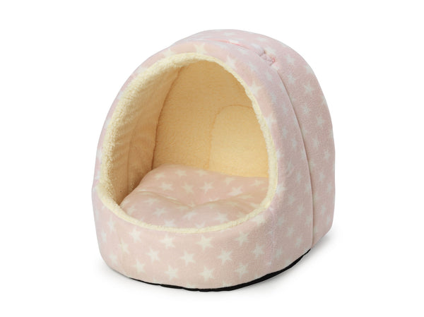 Fleece Star Hooded Bed Pink