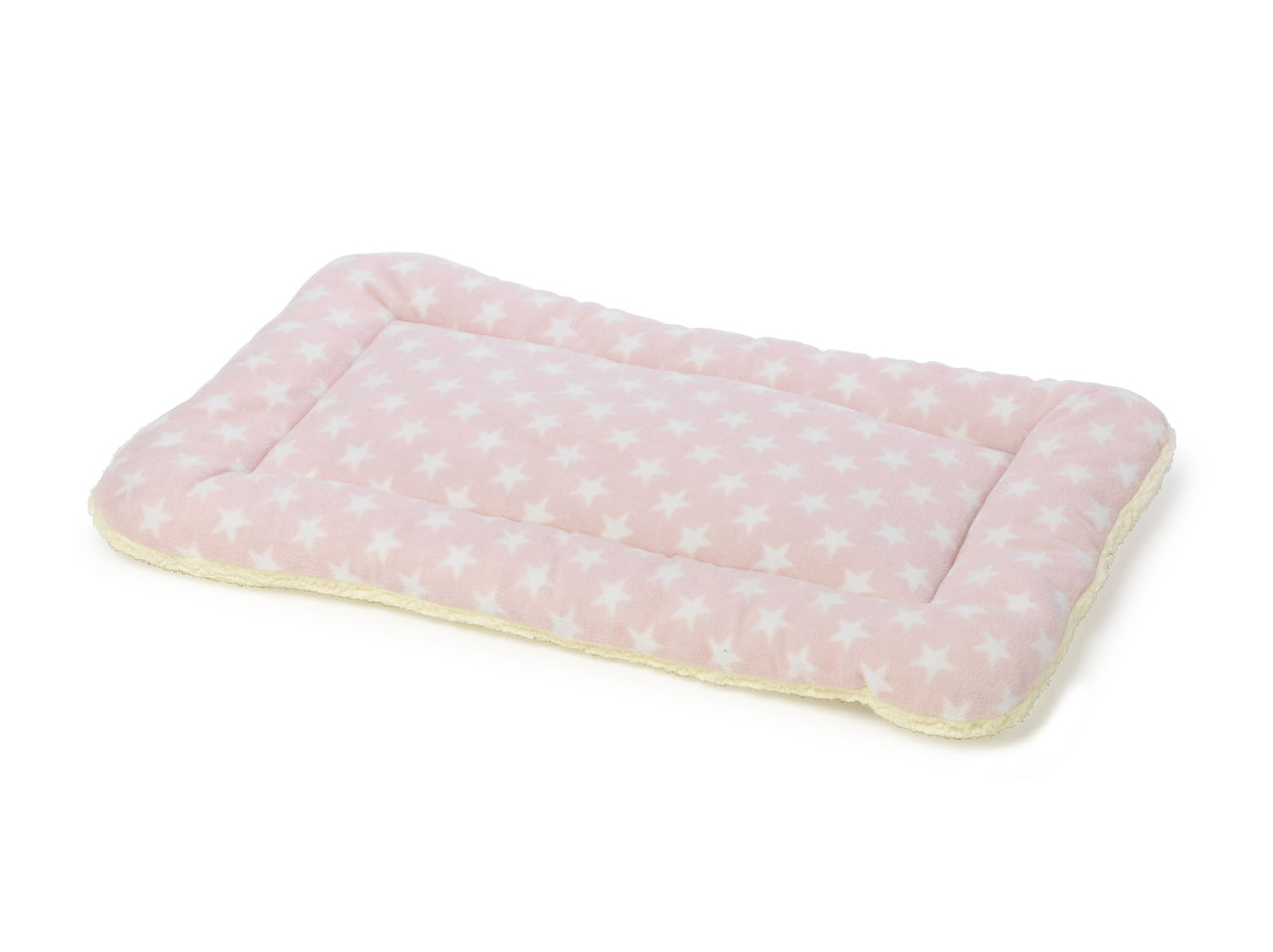 Fleece Star Crate Mat 2 pack Pink