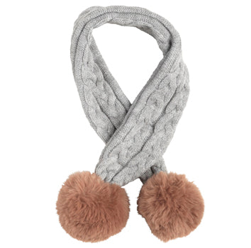 Cable Scarf Grey