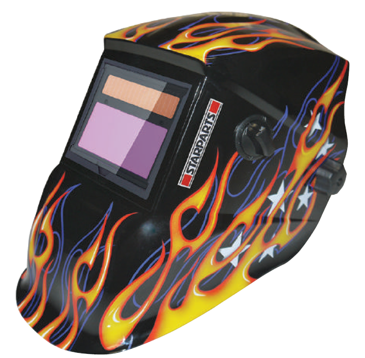Auto Darkening Flame Welding Helmet Shade 9-13 Variable Large Viewing Area