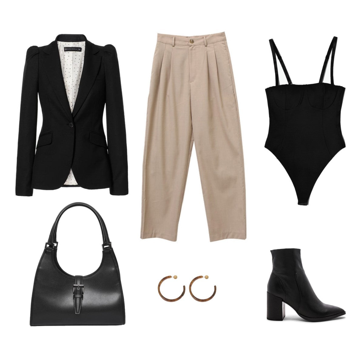 business-casual-outfit-tan-black-career-woman-bodysuit-la-reyna